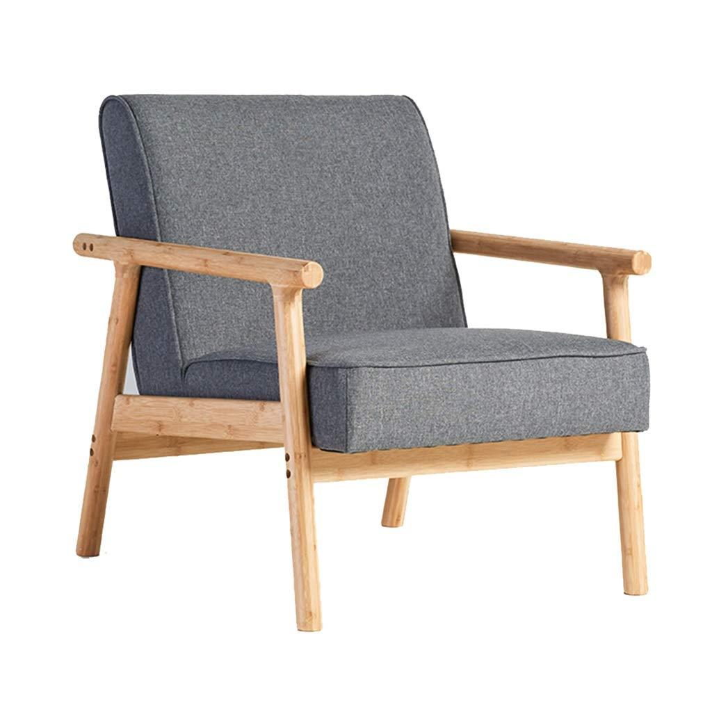 ダイニングチェア北欧シングルレジャーソファチェアリビングルームファブリックソファベッドルーム怠惰な椅子 : (Color : GRAY) B07R7J4241 GRAY GRAY B07R7J4241, ABC-MART:2bb73094 --- account.imdtec.org