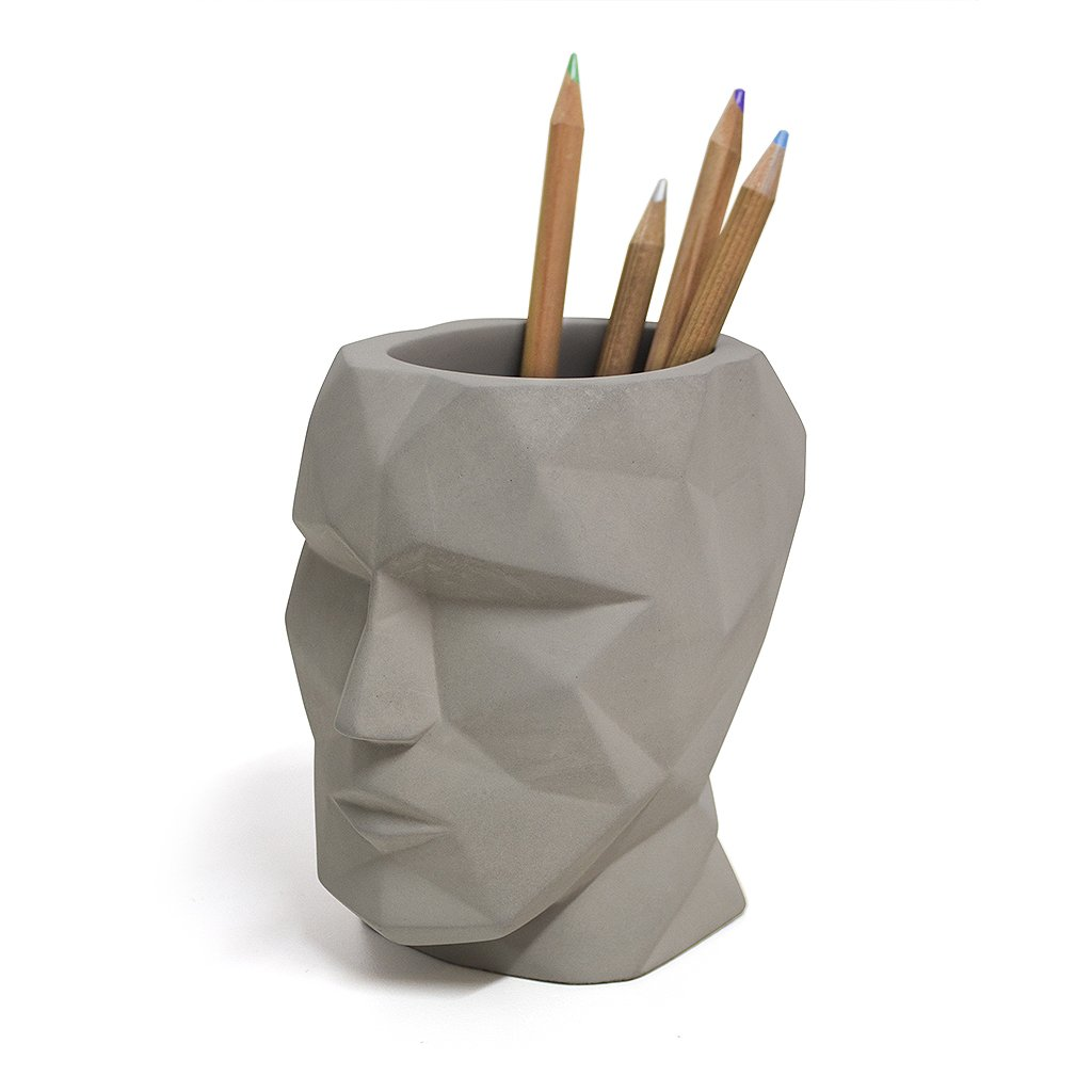 Balvi Portal/ápices The Head Color Negro Forma de Cabeza Silueta geom/étrica Cemento