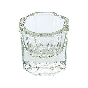 Sungpunet 2pcs de uñas líquido de acrílico transparente en polvo Copas Dappen de sustitución de vidrio de cristal Copas de Polonia cristalería Herramientas ...