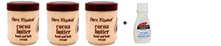 Queen Elisabeth Cocoa Butter Cream 500ml -3pck with Free Palmer s Cocoa Butter Traveling Size Cream 1.7oz