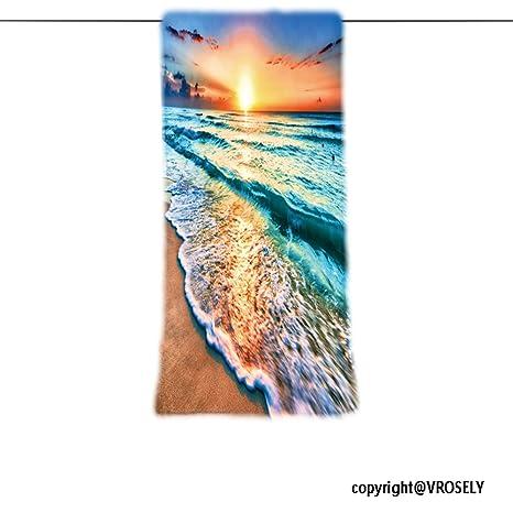 VROSELV Custom Toalla Suave y cómodo Playa Towel-Sunrise más de Playa en Cancún diseño