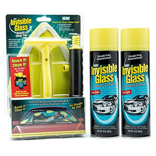 Stoner Car Care 91164(2)-95160(1) Window and Windshield Kit Reach and Clean Tool 2 Invisible Glass Cleaner, 38. fluid_ounces