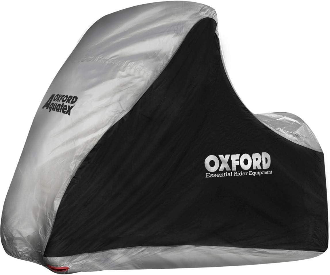 OXFORD Funda para Moto Aquatex Mp3-3 Wheeler Negro-Plata Default, Plata