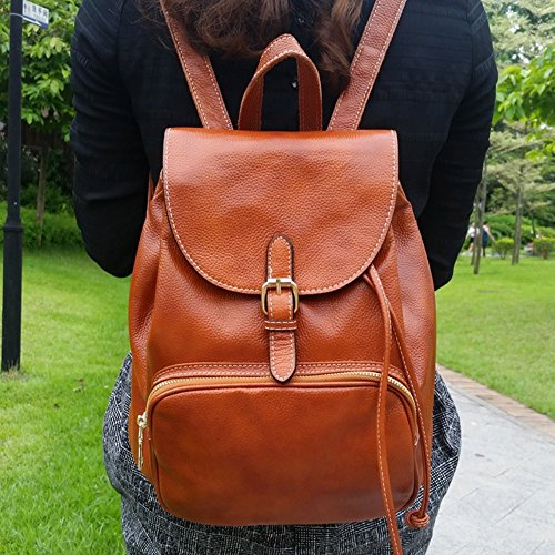 Sulandy Womens Genuine Cow Leather Casual Daily Backpack