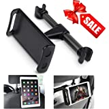 Car Headrest Mount iPad Holder 360 Degree Rotating Adjustable Car Seat Tablet Holder Universal Stand Cradle for iPad/Samsung Galaxy Tabs/Amazon Kindle Fire 4~11 inch Smartphones and Tablets