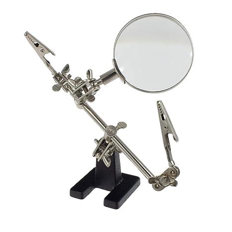 Smartfox – Tercera mano con lupa 60 mm de diámetro y dos de pinzas lötständer Soldadura