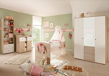 Babyzimmer komplett set weiß  4-tlg. Babyzimmer komplett Set WIKI 2 in Eiche Sonoma / Weiß ...