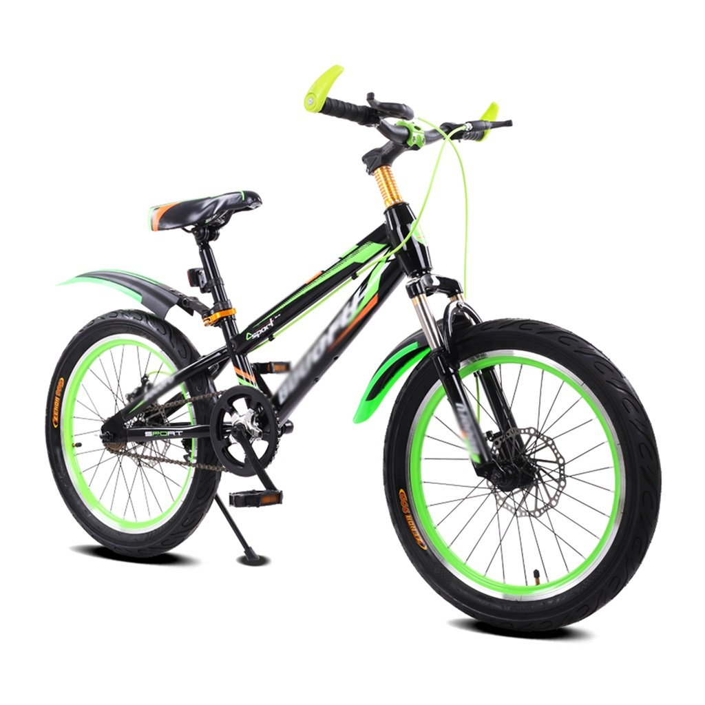 マウンテンバイク テンピングフレーム子供の自転車男性と女性のベビーカー16インチマウンテンバイク5-8歳の自転車 子供の自転車 (Color : Green)  Green B07SH6SZNF