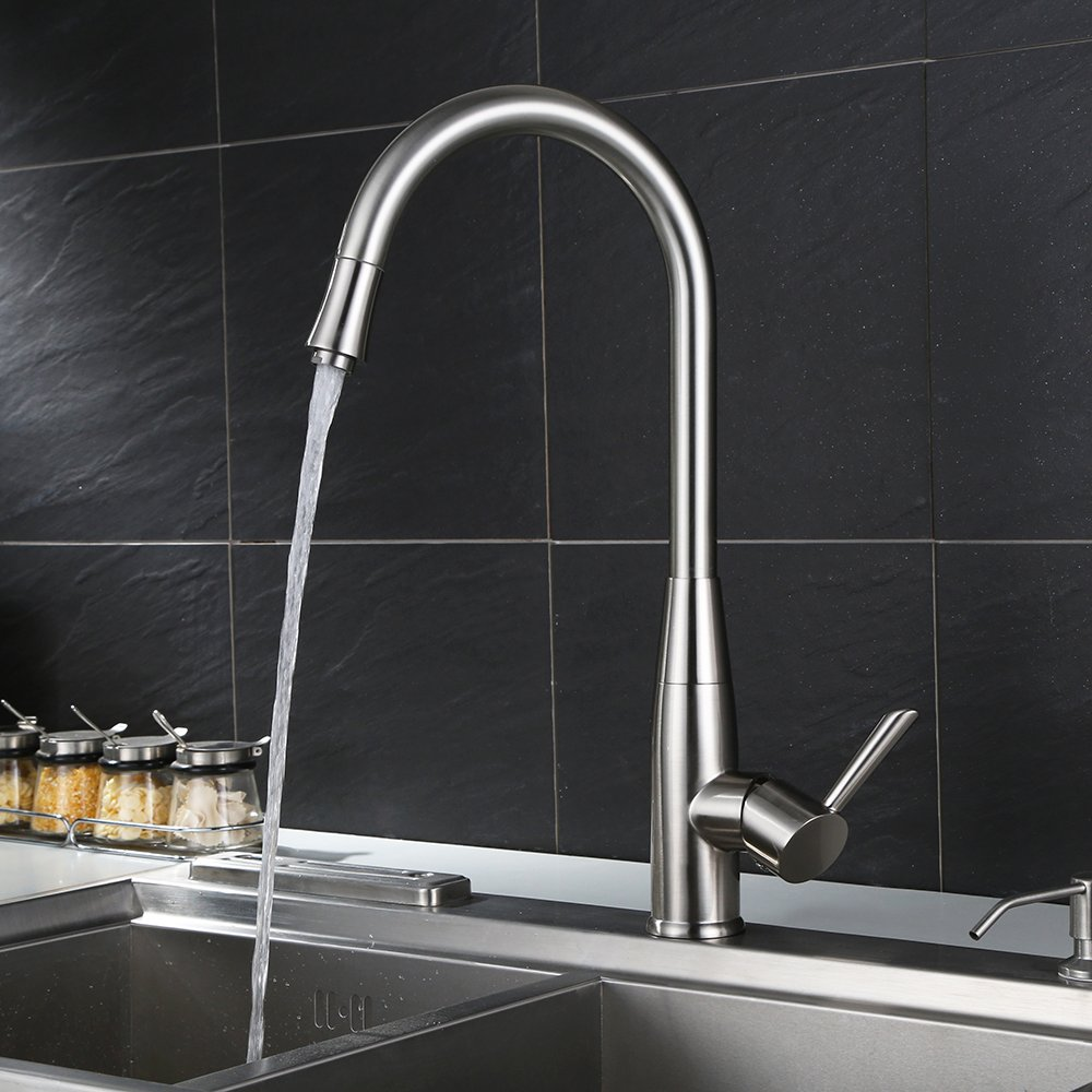 Homfa Kitchen Faucet Pull down Kitchen Faucet, Single Lever Bar Sink ...