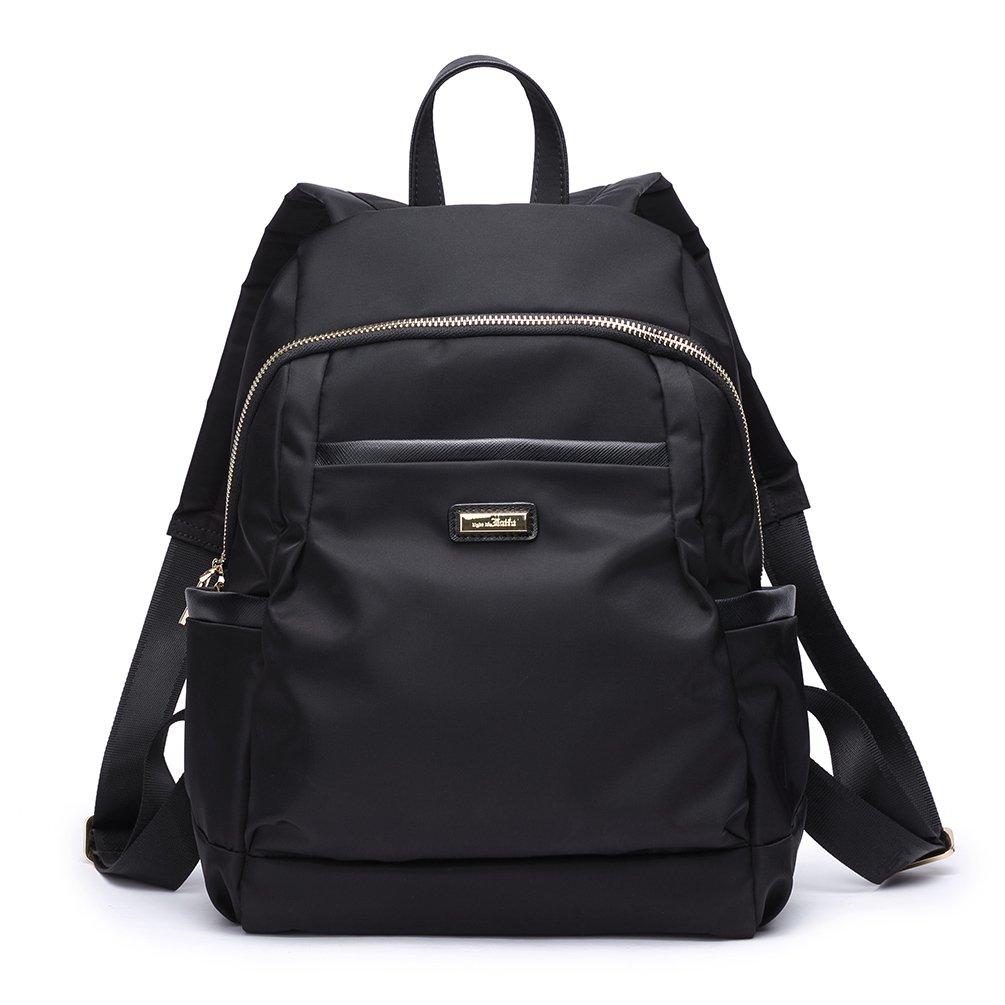 Women Girls Casual Nylon Backpack Bag Purse Schoolbag Travel Shopping Sport, Black