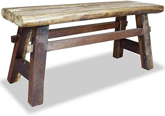 Festnight Panca in Legno Massello di Recupero 160x35x45 cm