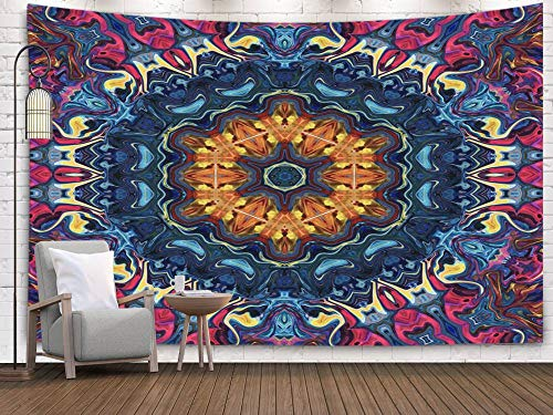 (Shorping Art Tapestries, 80x60Inches Hanging Wall Tapestry for Décor Living Room Dorm Surreal Art Psychedelic Fantasy Artwork Graphic Painting Design Pattern Template for Printed Production Decor)