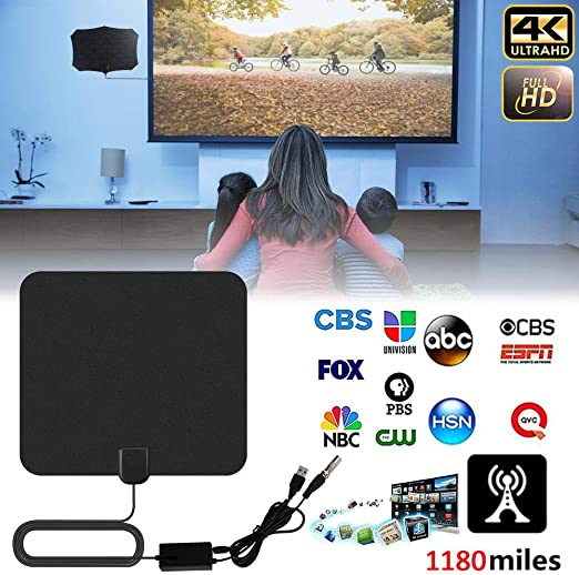 Gaeruite Antena de TV para Interiores, 1180 Millas 4K Antena de TV ...