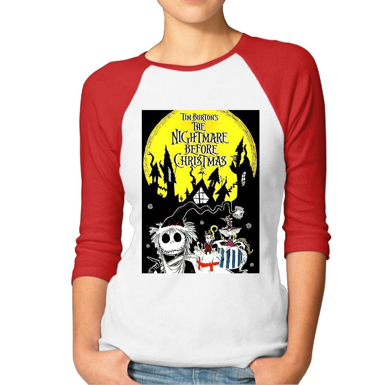 Amazon.com: Eronp Women\'s The Nightmare Before Christmas Casual 3/4 ...
