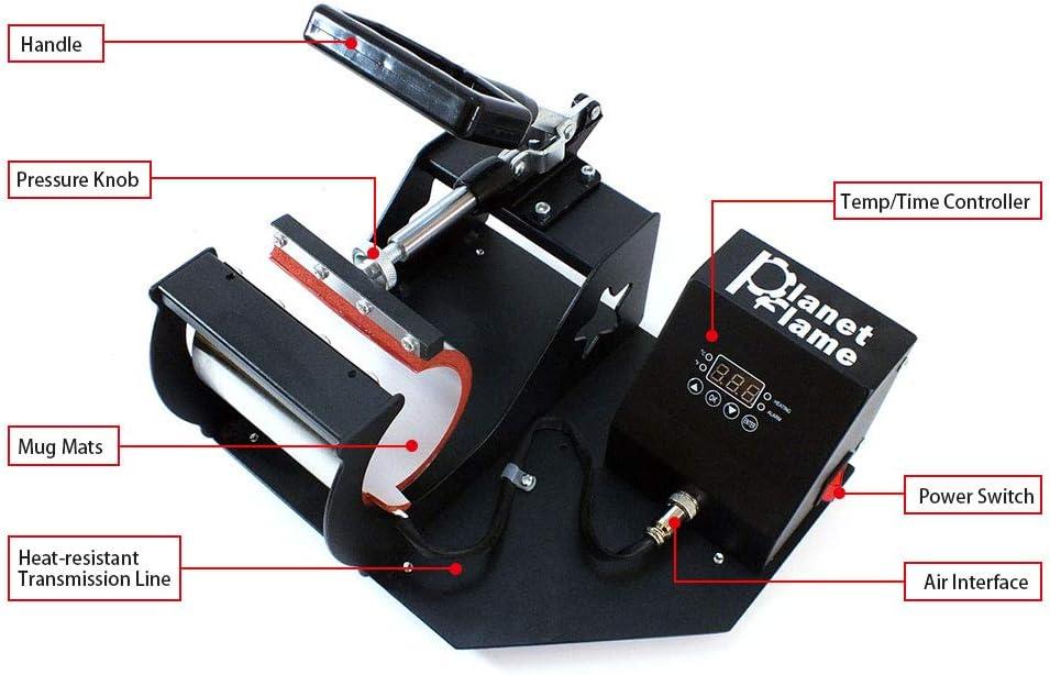 Stainless Steel Mug Press Attachment 7.5-9.5cm Heat Press Machine Accessories