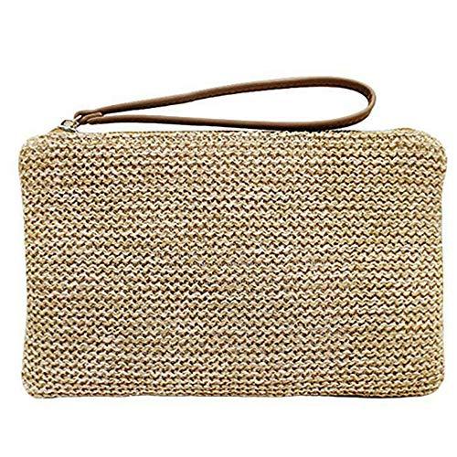 Auony Straw Clutch Handbag...