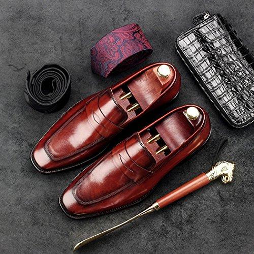 de Rojo Zapatos Formales Negro Rojo Zapatos Primavera Verano Oxfords Hombre gxwISqdCz