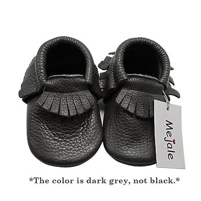 ddbbf701f8843 Mejale Baby Soft Sole Leather Tassel Slip-on Infant Toddler Baby Shoe Pre- Walker