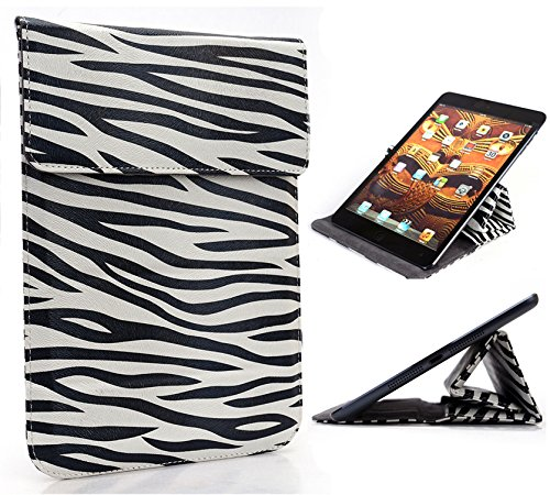 Zebra Print Wrapper Travel PU Leather Pouch Samsung Galaxy Tab 4 7.0, Galaxy Tab 4 Nook 7 Tablet, [Limited Edition] (Zebra Briefcases Print)