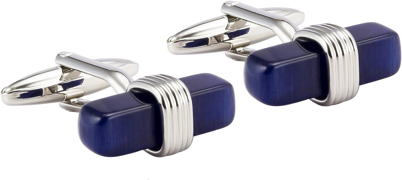 novelty cufflinks wedding cufflinks blue cufflinks Silver /& Blue Square Cufflinks cufflinks for wedding gift anniverary gift