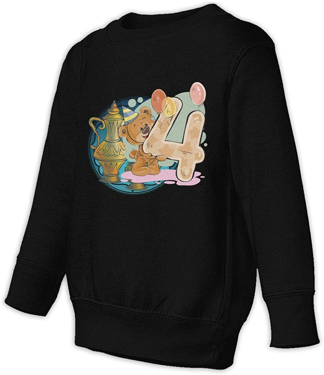 Bear Figure 4 Unisex Toddler Hoodies Fleece Pull Over Sweatshirt for Boys Girls Kids Youth
