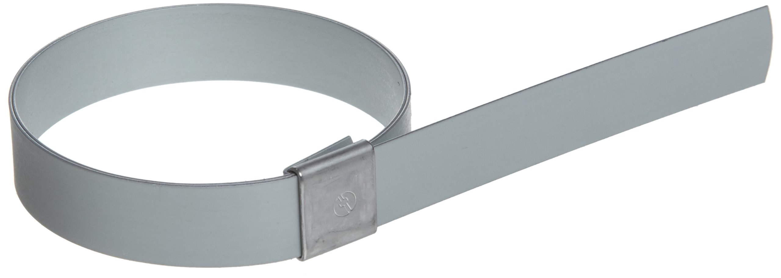 BAND-IT CP0799 5/8'' Wide x 0.025'' Thick 1-3/4'' Diameter, Galvanized Carbon Steel Center Punch Clamp (100 Per Box) by Band-It (Image #1)