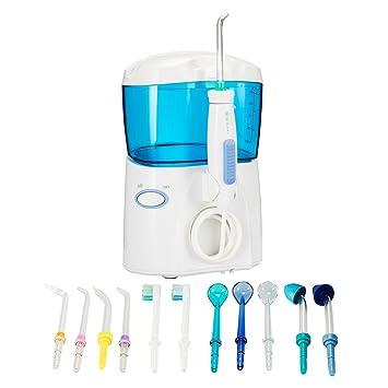 SUNMIYA Flosser De Agua Y Cepillo para Dientes Riego Oral para Dientes Dentales Frenillos Puentes Limpieza