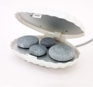 Royal Massage Clamshell Hot Stone Heater with 4 Hot Rocks