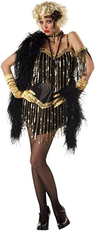 Roaring 20s Costumes- Flapper Costumes, Gangster Costumes Jazzy Baby Costume -adult Costume - Small $49.99 AT vintagedancer.com