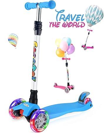 Amazon.com: OUTON Patinete para niños de 3 ruedas, patinete ...