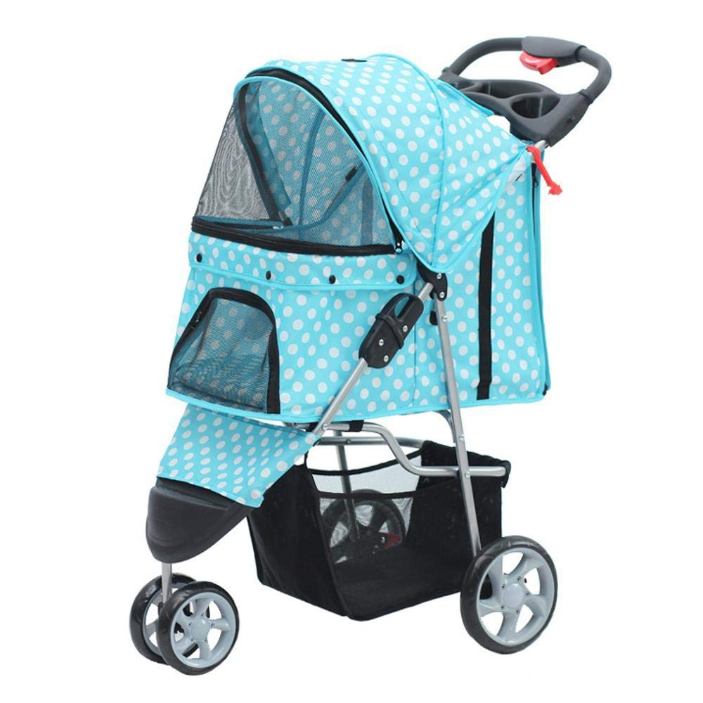 A Dixinla Pet Stroller Cat Tricycle pet Car One key Guanche quick Install foldable