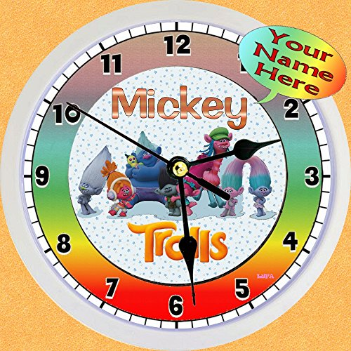 Trolls Gang Personalized Wall Clocks 9 inch