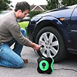 Idefair(TM) Auto Air Compressor Pump Tire,Portable 12V DC Digital Tire Inflator with Digital Gauge,3 High-air Flow Nozzles Adaptors for Cars,Bicycles and Other Inflators