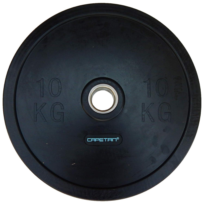Capetan Professional Line Olympische 10 kg Bumper Hantelscheibe aus Gummi mit 51 mm Lochdurchmesser