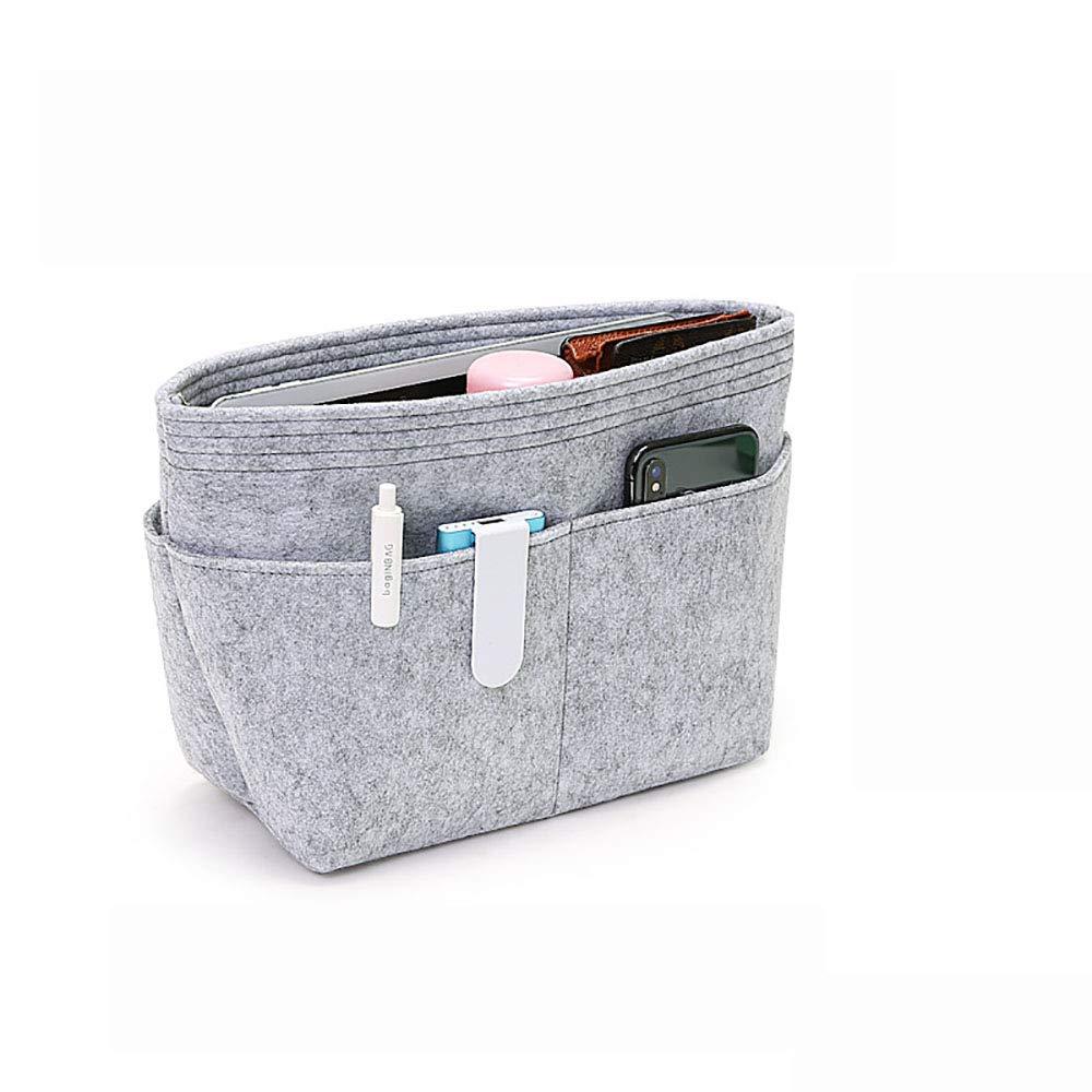 Felt Insert Bag Organizer Handbag Organizer for Speedy Neverfull - Small/Grey