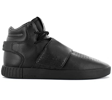 sports shoes a3822 0f801 adidas Men's Tubular Invader Strap Hi-Top Trainers Black