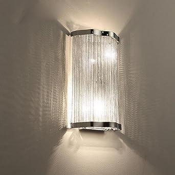 AuBergewohnlich JUJUN E14 Wandleuchte Modern Minimalist Kreativ Für Hotel Schlafzimmer  Wohnzimmer Esszimmer Dekoration Metall Aluminium Kette Silber