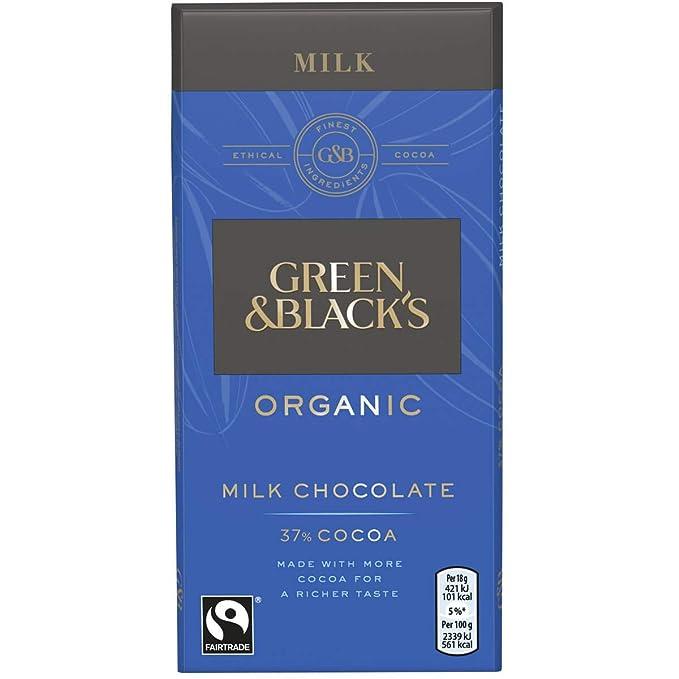 Green /& Black/'s Sea Salt Milk Chocolate Chocolate Bar 100 g Pack of 5 Organic