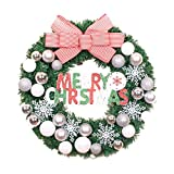 Silver Balls Christmas Wreath Garland Ornaments Arcades Hotel Christmas Decorations