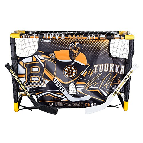 Franklin Sports Tuukka Rask Tuukka Rask Mini Hockey Knee Hockey Goal, Mini Stick, Target & Ball Set - NHL Official Licensed Product - Hockey Ice Rink