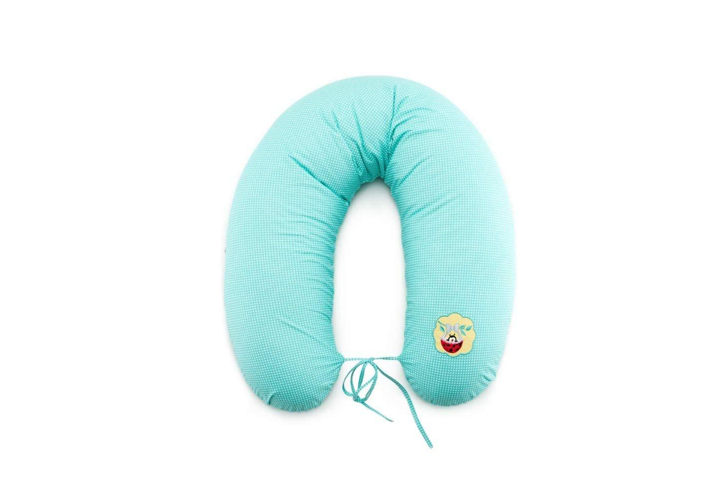 Almohada de enfermería, cojín de lactancia, de calidad, marca SeiDesign 170 x 30 cm, que consiste en el llenado de bolas de fibra - muy suave y cómodo.