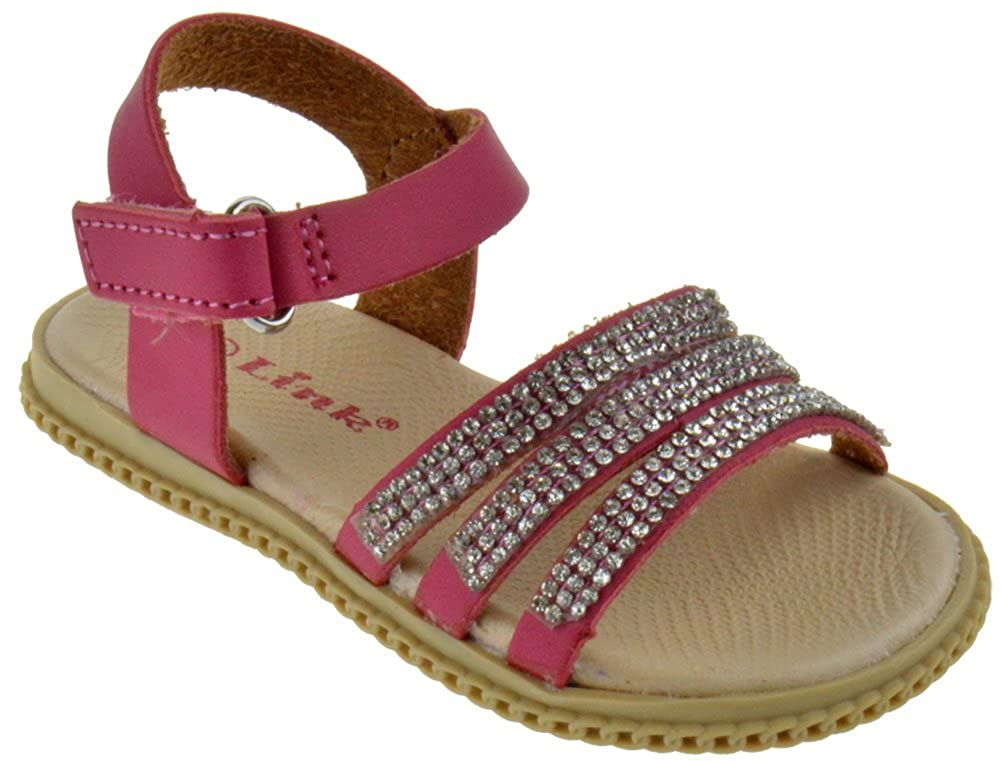 Link Holy 39Ka Toddler Strappy Caged Gladiator Rhinestone Sandals