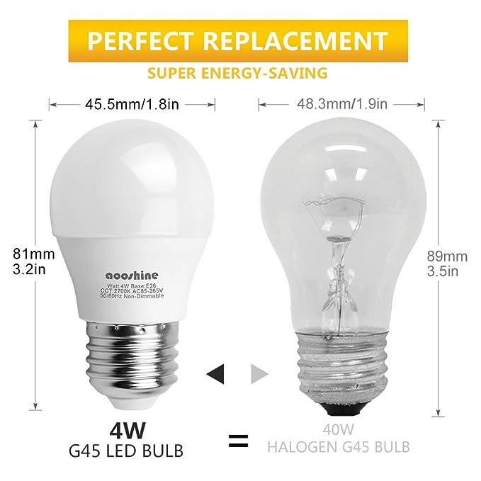 Amazon.com: Focos LED tipo globo, 4.00watts, 120.00 volts ...