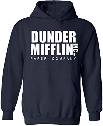 Sudadera unisex Dunder Mifflin Paper Company Inc con capucha para oficina americana, camiseta y sudadera, tallas XXL