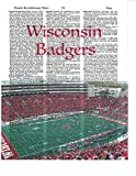 Signature Studios Wisconsin Badgers Football Dictionary Art Print Camp Randall Stadium Photo College Football Gift For Him Dictionary Photo