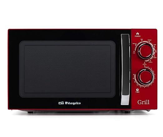 Orbegozo MIG 2045 - Microondas con grill, 20 litros de capacidad, 6 niveles de potencia, temporizador hasta 30 minutos, 700-900 W