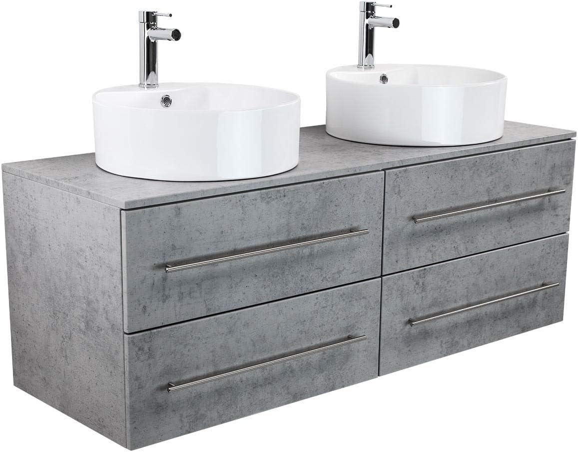 emotion Novum XL Bathroom Furniture concrete grey: Amazon.co.uk