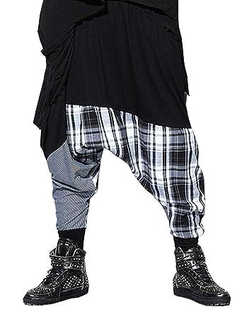 Los Hombres Pantalones De Harén Flojos Ocasionales Rayas Hombres ...