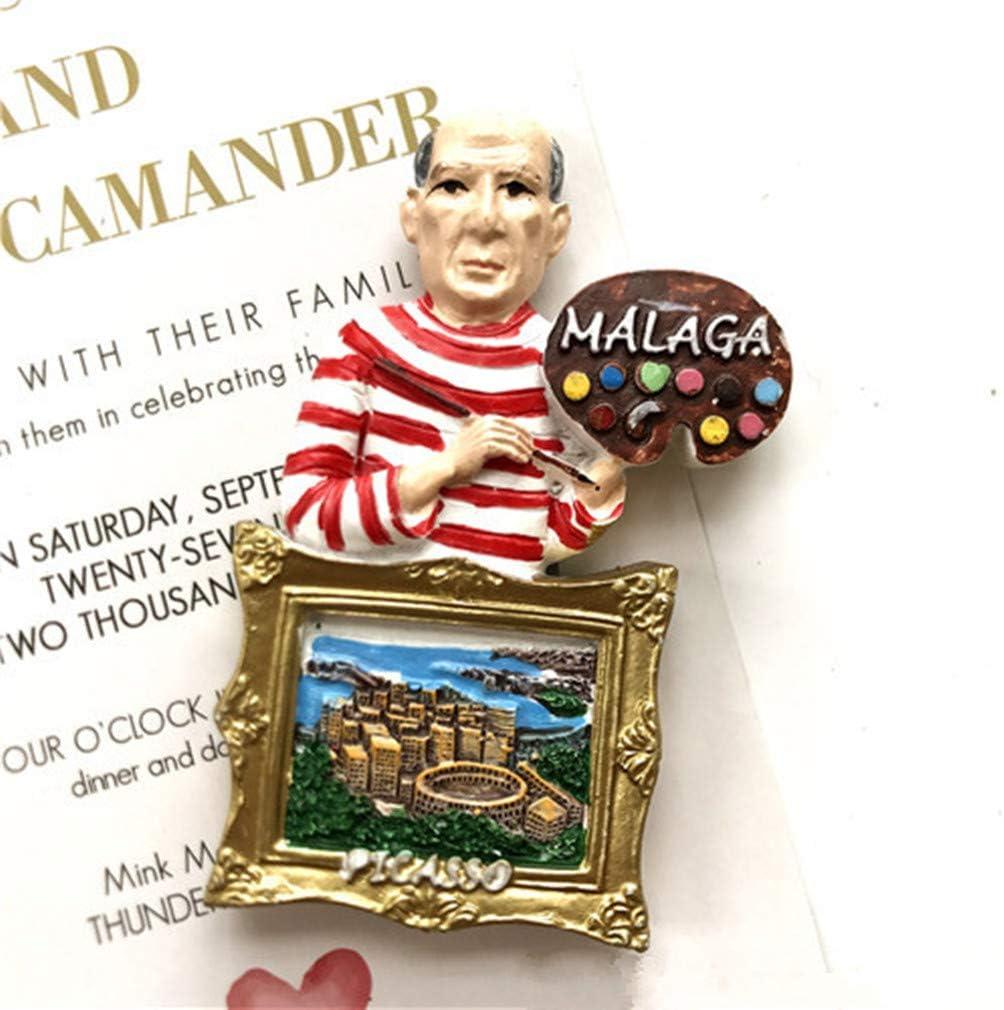 Bella 3D Magnet Frigo Aimant Frigo Aimant R/éfrig/érateur D/écor Voyage Vacances Souvenir de Espagne Sagrada Familia Fridge Magnet Sticker