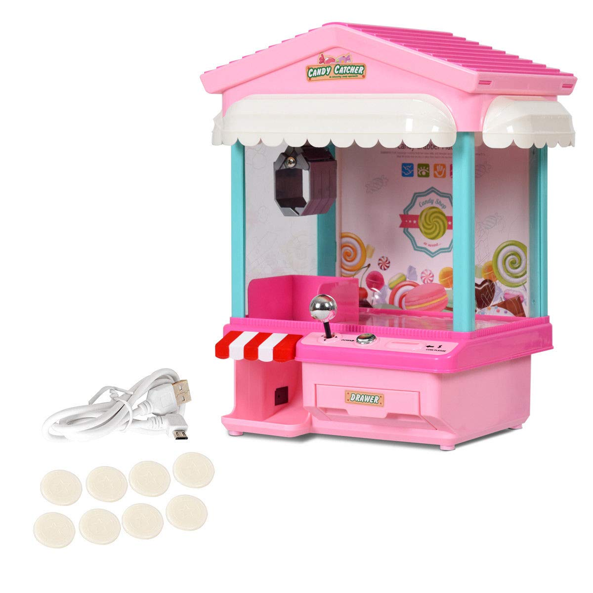 Snow Shop Everything Kids Electronic Claw Toy Grabber Machine Home Arcade w/ Lights & Music & Coins by Snow Shop Everything (Image #3)